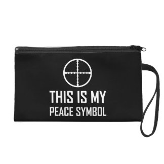 Gun Site My Peace Symbol Wristlet Purse