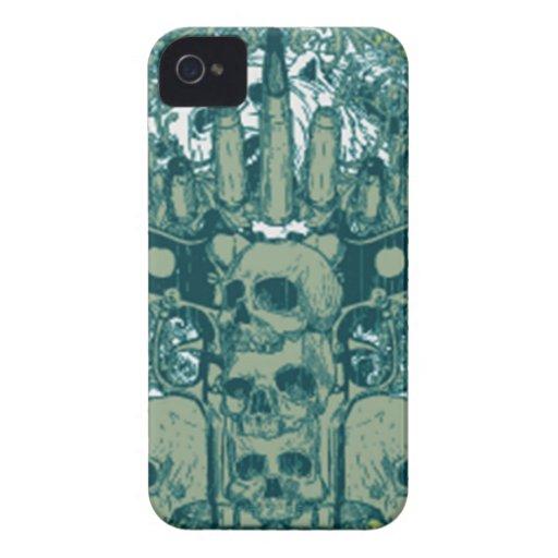 Gun skull blackberry case
