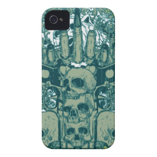 Gun skull iPhone 4 case