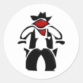 Gun Slinger Classic Round Sticker