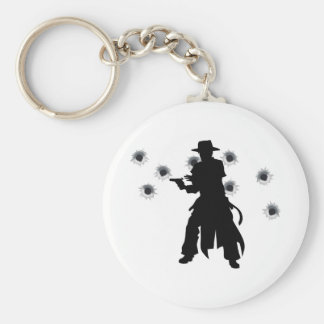 Gun slinger western shoot-out key chains