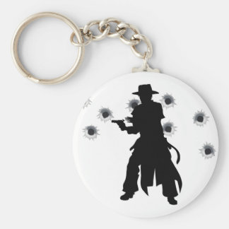 Gun slinger western shoot-out keychains
