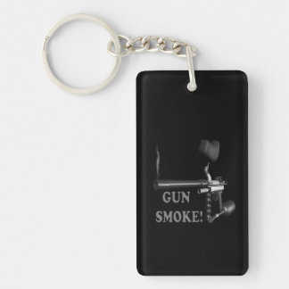 Gun Smoke Keychain