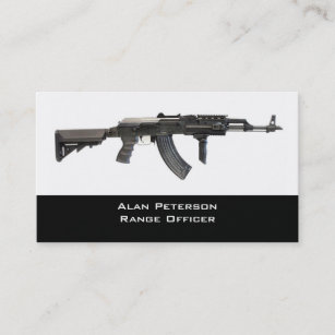 44eb3472 Gun Store / shooting range business card