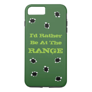 Gun Target Shooting Range Camo Green Bullet Holes iPhone 8 Plus/7 Plus Case