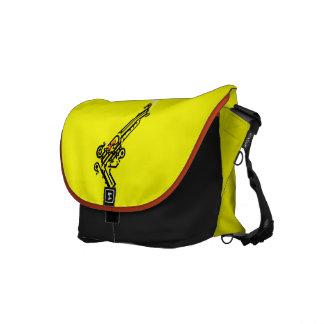 Gun Tattoo Messenger Bag