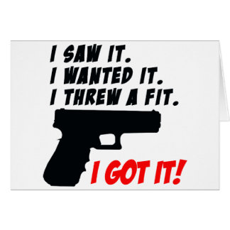 Gun Temper Tantrum Greeting Card