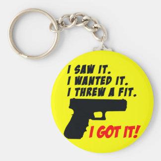 Gun Temper Tantrum Keychain