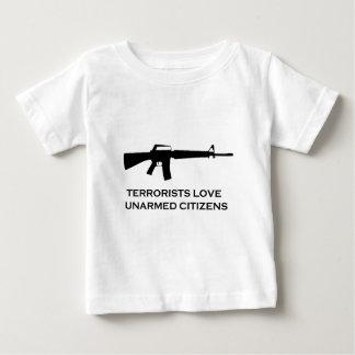 gun terror baby T-Shirt