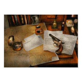 Gun - The adventure of military life Custom Invitation