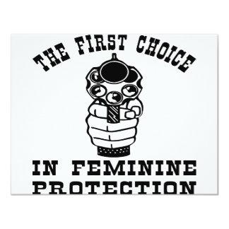 Gun The First Choice In Feminine Protection Card