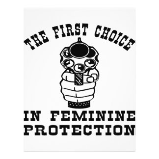 Gun The First Choice In Feminine Protection Personalized Flyer