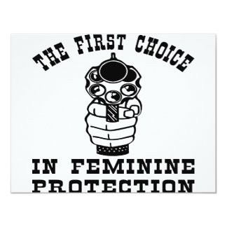 Gun The First Choice In Feminine Protection 4.25x5.5 Paper Invitation Card