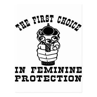 Gun The First Choice In Feminine Protection Postcard
