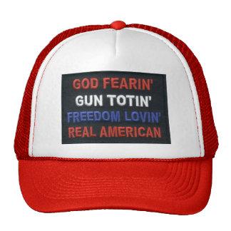 GUN TOTIN REAL AMERICAN TRUCKER HAT