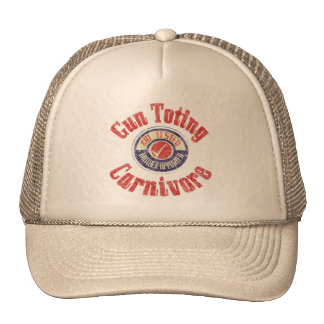 Gun Toting Carnivore Distressed Hat