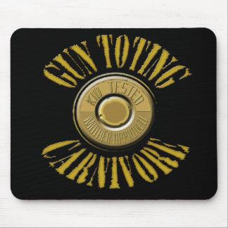 Gun Toting Carnivore Shell Casing Mouse Pad