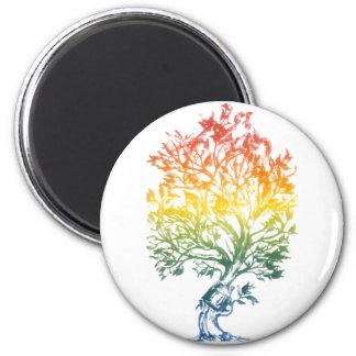 Gun-Tree-Image 2 Inch Round Magnet