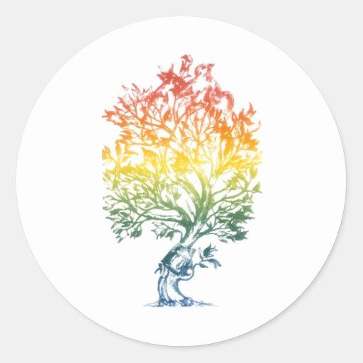Gun-Tree-Image Sticker