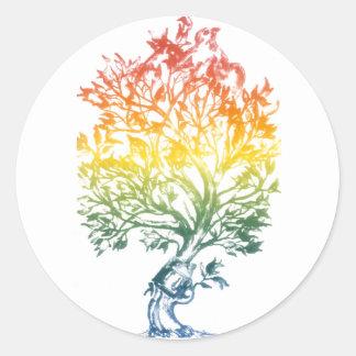 Gun-Tree-Image Round Stickers