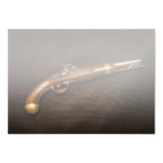 Gun - US Pistol Model 1842 Custom Invitations
