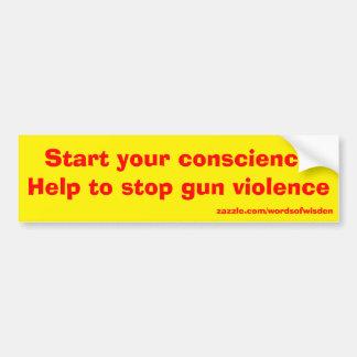 gun violence car bumper sticker