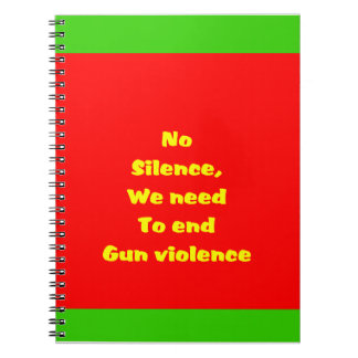 Gun violence spiral notebooks