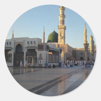 Gunbad-e-Khidra (Masjid Nabwi) Medina Pegatina Redonda