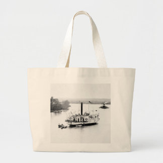 Gunboat Commodore Perry: 1860s Canvas Bag