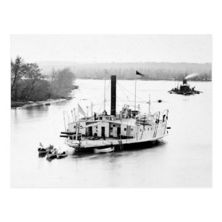 Gunboat Commodore Perry: 1860s Postcards