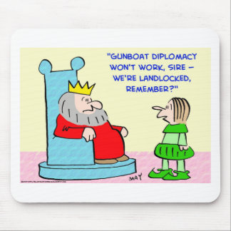 GUNBOAT DIPLOMACY KING MOUSE PAD