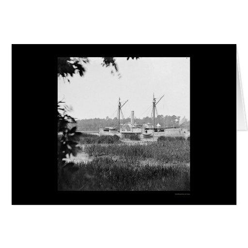 Gunboat Mendota at Deep Bottom, VA 1864 Card