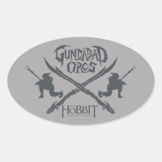 Gundabad Orcs Movie Icon Oval Sticker