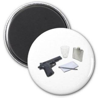 GunFlaskNotebook052711 Imán Redondo 5 Cm