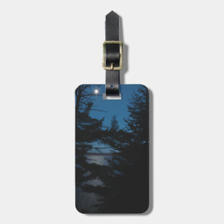 Gunflint Lake Minnesota at Night Easy ID Personal Bag Tag