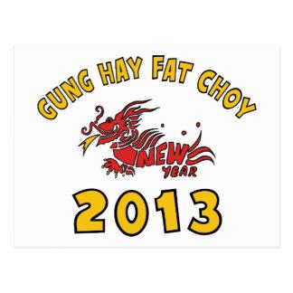 Gung Hay Fat Choy 2013 Postcard