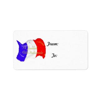 Gunge French Flag Gift Tag Label
