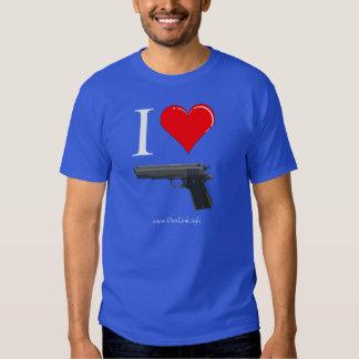 GunLink I Love 1911 Pistols (Heart) T-shirt