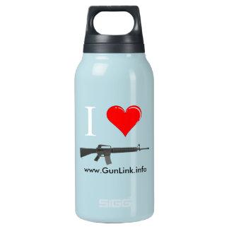 GunLink I Love AR15 Rifles (heart) Canteen Insulated Water Bottle