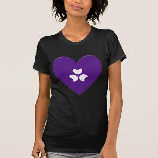 Gunma Prefecture Flag Heart Shirt