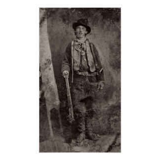 GUNMAN BILLY the KID c. 1879 Print