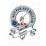 Gunn Clan Badge Post Card