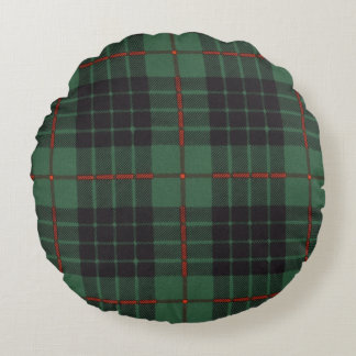Gunn clan Plaid Scottish tartan Round Pillow
