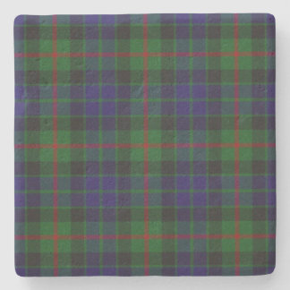 Gunn Clan Tartan Plaid Stone Coaster
