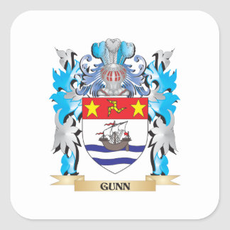 Gunn Coat of Arms - Family Crest Stickers
