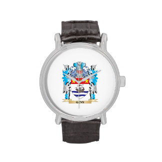 Gunn Coat of Arms - Family Crest Wristwatch