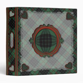 Gunn Scottish clan tartan - Plaid 3 Ring Binder