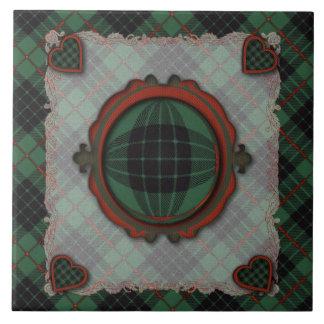 Gunn Scottish clan tartan - Plaid Ceramic Tile