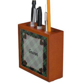 Gunn Scottish clan tartan - Plaid Pencil/Pen Holder
