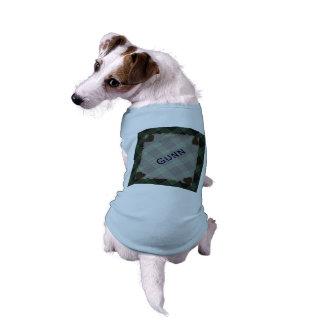 Gunn Scottish clan tartan - Plaid Dog T-shirt